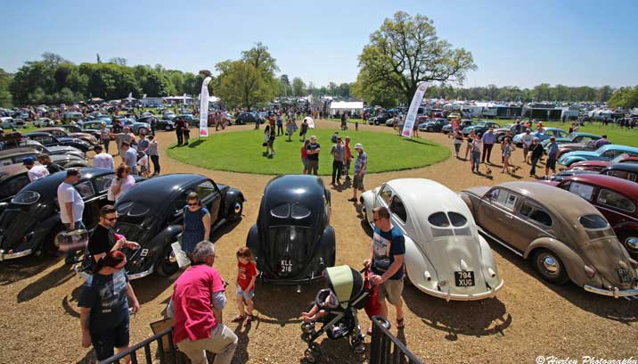 Display of Volkswagen Beetle models