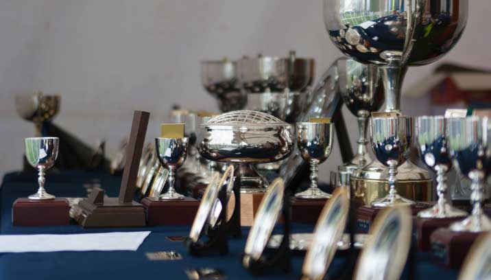 Trophies given out at the Concours